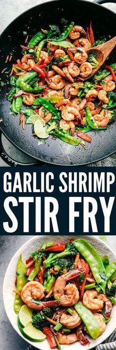 This Garlic Shrimp Stir Fry is one of the easiest meals that is packed with so many delicious veggies and shrimp. Glazed in the most amazing garlic sauce, this will become an instant favorite!