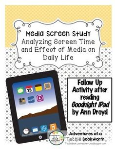 "Use this document after reading the parody ""Goodnight iPad"" by Ann Droyd. This…"