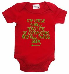 Amazon.com: Dirty Fingers, My Uncle shall teach me computers, Geek, Baby Short S Bodysuit: Clothing