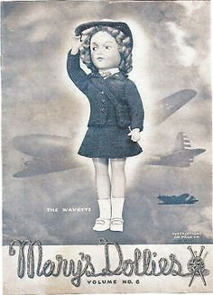 """KNIT INSTRUCTIONS, MARY HOYER DOLL""""THE WAVETTE"""" PATTERN"""