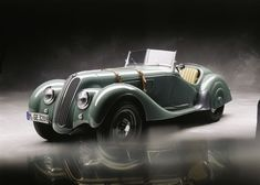3. BMW 328      The Car that set the standards for high performance Sports cars in the pre-war era. This car was developed as an Ideal for Hitler's Autobahn's where the German drivers would be able to maintain a cruising speed of 100 kph for long distances. Its development predecessor the 303 was was the first one with the trademark divided front grille. Ze Germans called it 'Nieren' meaning Kidney's, which the shape was thought to resemble.