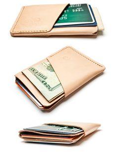 SLIM CARD CASE (NATURAL LEATHER) | Ugmonk — Designspiration