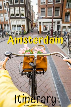 Here's the best Amsterdam itinerary that you will find on the internet. This post will guide you how to spend the most amazing 2 days in Amsterdam - from famous attractions to off the beaten path, pretty flea markets, street art zones and more.  This post also includes cycling maps + walking maps for two days. This Amsterdam itinerary can also be modified into 3 or 4 days - depending on your pace.  #Amsterdam #AmsterdamItinerary