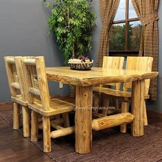 cabin furniture in woodland