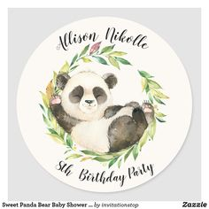 Sweet Panda Baby Shower Thank You Favor Sticker - baby gifts child new born gift idea diy cyo special unique design Baby Shower Thank You, Baby Shower Favors, Baby Boy Shower, Baby Shower Invitations, Baby Shower Gifts, Panda Bebe, Cute Panda, Panda Day, Panda Panda