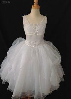 Christie Helene Communion Gown. BocelliBoutique.com Designer #ChristieHelene First #Communion Dress - Style #P1305