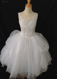 Christie Helene Communion Gown. BocelliBoutique.com Designer #ChristieHelene First #Communion Dress - Style #P1305