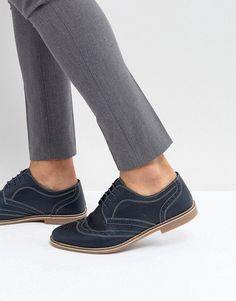 Red Tape Brogues Navy Leather
