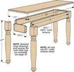 DIY Hallway Table