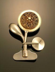 Musical Flower Pin by Alice Sprintzen Studio