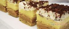 Pudingkrémes szelet háztartási kekszből, sütés nélkül | TopReceptek.hu