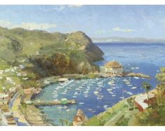 Catalina View from Mt. Ada by Thomas Kinkade