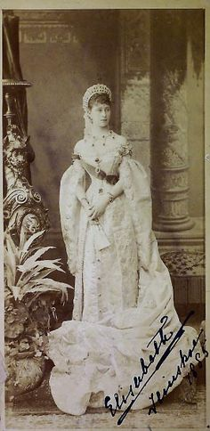 The Grand Duchess Elizabeth Feodorovna (called Ella by the Imperial family), German Princess of Hesse by birth, married to Russian Grand Duke Sergei Alexandrovich (son of Alexander II and uncle of Nicholas II) in 1884.    Her younger sister Alix became the wife of Russian Czar Nicholas II in 1894 (Empress Alexandra Feodorovna).