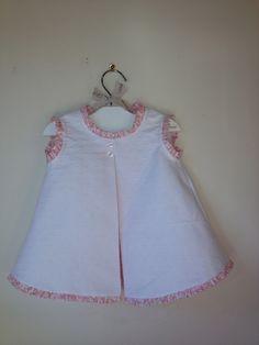 vestido bebé piqué blanco