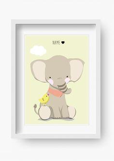 """Bilder - Kinder Poster """"Rudi Rüssel"""" (Kinderzimmer Bild) - ein Designerstück von fabeltal bei DaWanda"""