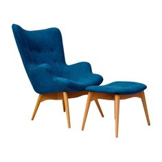 Have to have it. Huggy Mid-Century Chair and Ottoman - $878.99 @hayneedle