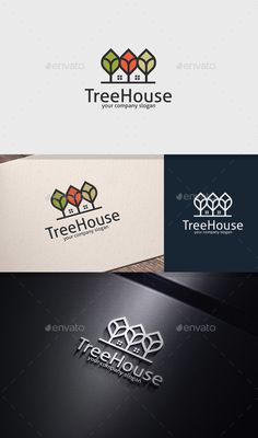 Tree House Logo — Vector EPS #green house #city • Download ➝ https://graphicriver.net/item/tree-house-logo/20057657?ref=pxcr