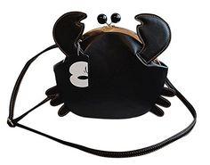 Manka Vesa Women's PU Crab Clasp Closure Tote Handbag Cute Satchel Cross Body Shoulder Bag
