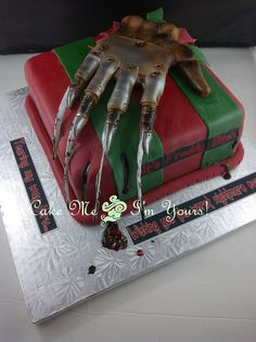Freddy Krueger Cake, via Flickr.