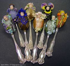 Spoons - have seen these altered into pin cushions ... These are wonderful!