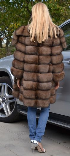 Natural Barguzin Sable Fur Coat Like Jacket Chinchilla Royal Saga Mink Lynx Fox | eBay