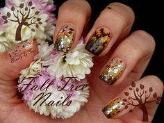 Fall Tree Nails #nailart #fallnails