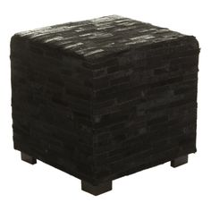 Discover the Flamant Home Interiors Azzo Black Footstool at Amara