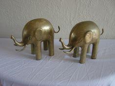Vintage Brass Elephants