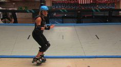 Roller Derby How-To Tutorial: Turn Around Toe Stop - One advanced skilled I've actually been able to master in a couple months as Fresh Meat :D