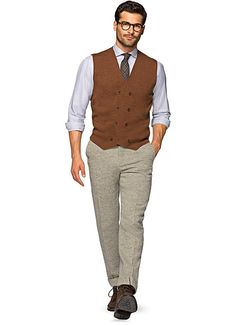 Rust_Knitted_Waistcoat_SW566  Love that color