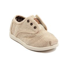 Shop for Toddler TOMS Cordones Casual Shoe in Burlap at Journeys Kidz. Shop today for the hottest brands in mens shoes and womens shoes at JourneysKidz.com.A perfect blend between sneaker and dress shoe, the TOMS kids Cordones features a canvas upper with hidden elastic straps for wearing without laces, cushioned suede insole, latex arch, and solid rubber out sole.