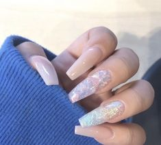 Semi-permanent varnish, false nails, patches: which manicure to choose? - My Nails Best Acrylic Nails, Acrylic Nail Designs, Plain Acrylic Nails, Aycrlic Nails, Hair And Nails, Nails After Acrylics, Acryl Nails, Fire Nails, Dream Nails