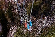 Boho Necklace, Point Necklace, Crystal Pendant, Amethyst, Crystal ,Rose Quartz, Opal, Blue turquoise, Buy 1 Get 1