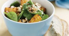 Try this nutty twist on sweet potato salad. You will love the crunch!