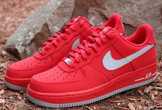 Nike Air Force 1 Low | Strata Grey & University Red