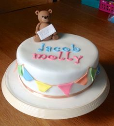 - Teddy Christening cake