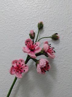 Pink Blackberry Blossoms. Crochet Flower Pattern