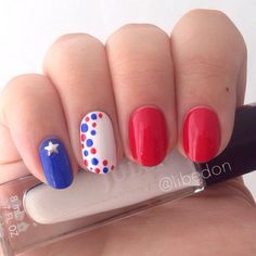 Red white and blue toe nails 4th of julymemorial day pinterest show us your 4th of july inspired nails tag your solutioingenieria Choice Image