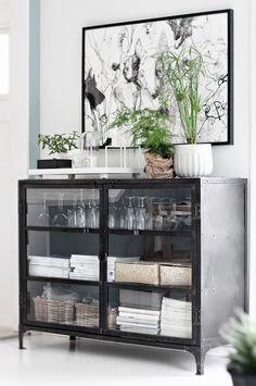 black + white + green + bar storage