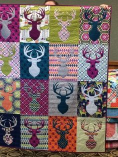 This is a killer quilt..... for a hunter, although I do like the colors - needs a little camo