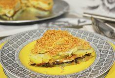 Pastel de patata, queso brie y setas  http://www.thespanishfood.es/2013/01/pastel-de-patata-queso-brie-y-setas.html