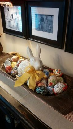 What To Put In Bowls For Decoration Spring Arrangement In Wooded Dough Bowl  Home Decorating