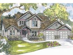 Craftsman House Plan with 2208 Square Feet and 4 Bedrooms(s) from Dream Home Source   House Plan Code DHSW62770