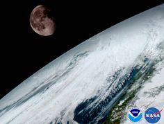 Preciosa imagen del satélite de observación de la Tierra GOES 16. Es del 15 de enero. No os parece una maravilla?