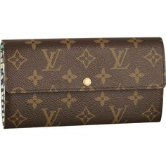 dc73913b404f Cheap Louis Vuitton Sarah Wallet Leopard Celebrate punk glamour with the Sarah  Wallet in vivid Monogram Leopard. Classic Monogram canvas is given a  playful ...