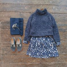 Blue sky's and cold weather needs warm jumpers and floral dresses. Popcorn roll neck jumper and painting flower dress online now ☁️❄️ #olive #oliveclothing #cheltenham