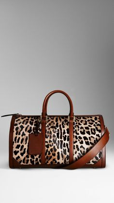 Love the Burberry The Boston in Spotted Animal Print on Wantering | Wantering Pin Ambassadors | womens animal print bag