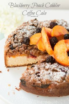 Blackberry Peach Cobbler Coffee Cake Really nice recipes. Every  Mein Blog: Alles rund um Genuss & Geschmack  Kochen Backen Braten Vorspeisen Mains & Desserts!