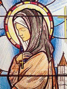 Saint Clare of Assisi Catholic Art, Catholic Saints, Religious Art, Francis Of Assisi, St Francis, Clare Of Assisi, St Clare's, Christian Images, Cute Illustration