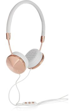 Frends | Layla leather and rose gold-tone headphones - high quality leather headphones that double as an ultra-chic accessory.